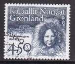 miniature TIMBRE OBLITERE DU GROENLAND - EUROPA 1996 : PORTRAIT D'ARNARULUNNGUAQ N° Y&T 274