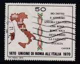 miniature TIMBRE OBLITERE D'ITALIE - CENTENAIRE DU RATTACHEMENT DE ROME A L'ITALIE N° Y&T 1053