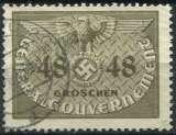 POLOGNE OCCUPATION ALLEMANDE 1940 OBLITÉRÉ SERVICE N° 18