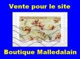 miniature FRANCE - Oblitéré sur fragment - AA Motifs de fleurs Tulipes  - TCA 343