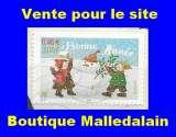 miniature FRANCE - Oblitéré sur fragment - YT 3437 Bonne année - TCA 346