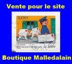 miniature FRANCE - Oblitéré sur fragment - AA 11 Facteur - TCA 348