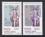 miniature PAIRE NEUVE DU VATICAN - 5E CENTENAIRE DE LA MORT DE ST CASIMIR DE LITUANIE N° Y&T 749/750